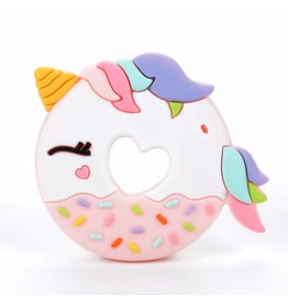 Lou Lou Lollipop Unicorn Donut Teether SINGLE Pink