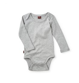 Tea Collection Basically Baby Bodysuit - Med Heather Grey