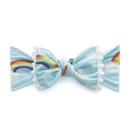 Baby Bling Bows Trimmed Printed Knot (Rainbow)