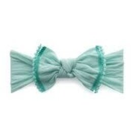 Baby Bling Bows Trimmed Classic Knot (Seafoam/Aqua Pom)