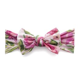 Baby Bling Bows Printed Knot (Pink Rose)
