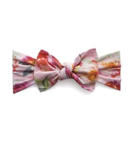 Baby Bling Bows Print Knot (Soft Pink Floral)