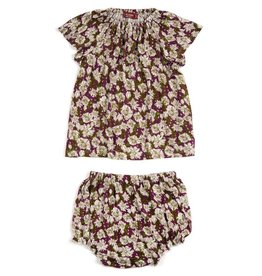 Milkbarn Kids Bamboo Dress & Bloomer Set - Purple Floral
