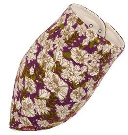 Milkbarn Kids Bamboo Kerchief Bib - Purple Floral