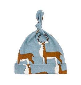 Milkbarn Kids Organic Knotted Hat - Blue Buck