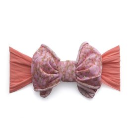Baby Bling Bows Jersey Bow (Coral Floral)