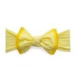 Baby Bling Bows Trimmed Classic Knot (Lemon/Mustard Pom)