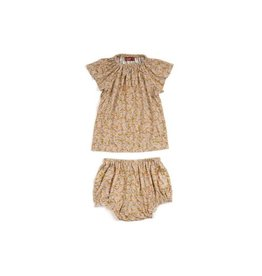 Milkbarn Kids Bamboo Dress & Bloomer Set - Rose Floral