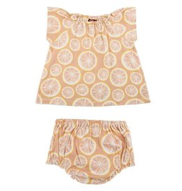 Milkbarn Kids Organic Dress & Bloomer Set - Grapefruit
