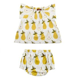 Milkbarn Kids Organic Dress & Bloomer Set - Pear