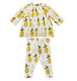 Milkbarn Kids Organic Dress & Legging Set - Pear
