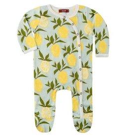 Milkbarn Kids Organic Footed Romper - Lemon