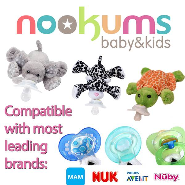 Nookums Paci-Plushes Buddies and Shakies Pacifier Compatibility