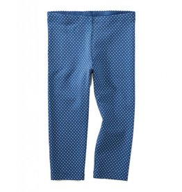 Tea Collection Pin Dot Baby Leggings Cobalt