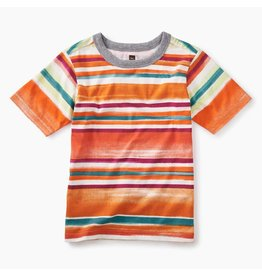 Tea Collection Painterly Stripe Tee - Southwest Sky