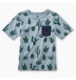 Tea Collection Print Pocket Tee - Classic Cactii