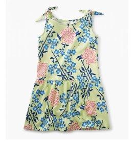 Tea Collection Tie Shoulder Dress - Chrysanthemum Blossoms