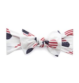 Baby Bling Bows Printed Knot (Flag Heart)