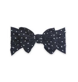 Baby Bling Bows Patterned Knot (Shabby Black Dot)