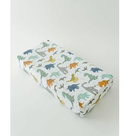 Little Unicorn Cotton Muslin Changing Pad Cover - Dino Friends