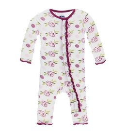Kickee Pants Print Classic Layette Ruffle Coverall (Natural Marigold)