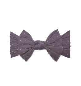 Baby Bling Bows Patterned Knot (Lilac Dot)