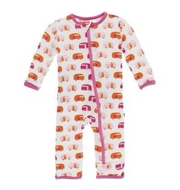 Kickee Pants Print Coverall - Natural Camper