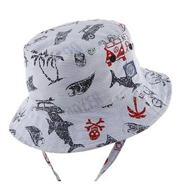 Millymook and Dozer Baby Boys Bucket Hat - Kai Blue L