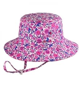 Millymook and Dozer Girls Bucket Hat - Ruby Pink S