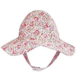 Huggalugs Red & Pink Flowers UPF 50+ Sunhat