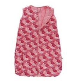 Kickee Pants Printed Quilted Sleeping Bag in Roses with Strawberry