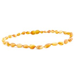 Amber Monkey Baltic Amber 10-11 inch Necklace - Raw Honey Bean POP