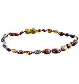 Amber Monkey Baltic Amber Necklace - Polished Olive Bean POP