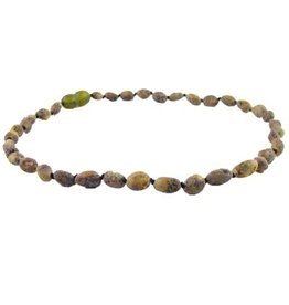 Amber Monkey Baltic Amber Necklace - Raw Olive Bean POP