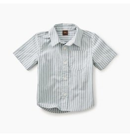 Tea Collection Striped Short Sleeve Button Baby Shirt
