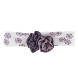 Kickee Pants Print Flower Headband - Natural Lantana with Elderberry/Fig - S
