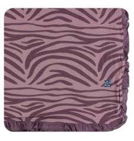 Kickee Pants Print Ruffle Toddler Blanket - Elderberry Zebra Print