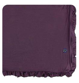 Kickee Pants Solid Ruffle Toddler Blanket - Fig