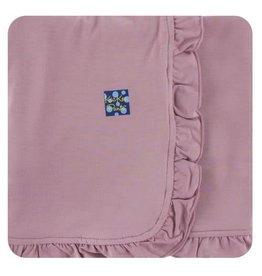 Kickee Pants Solid Ruffle Toddler Blanket - Elderberry