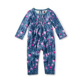 Tea Collection Snowdrop Smocked Romper 9-12m