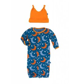 Kickee Pants Twilight Gown and Knot Hat 0-3M