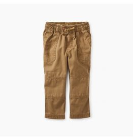 Tea Collection Canvas Explorer Baby Pants - Raw Umber