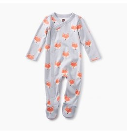Tea Collection Footed Romper - Foxes