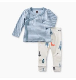 Tea Collection Wrap Top Baby Outfit - Tourmaline