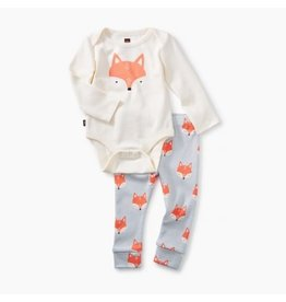 Tea Collection 2-Piece Bodysuit Baby Outfit - Fox Chalk