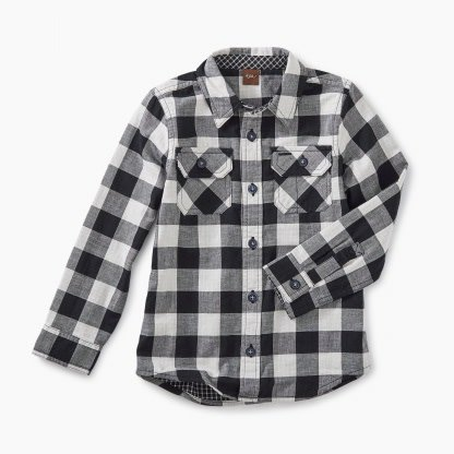 Tea Collection Double Weave Shirt - Checkered