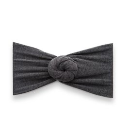Baby Bling Bows Heathered Bun Charcoal