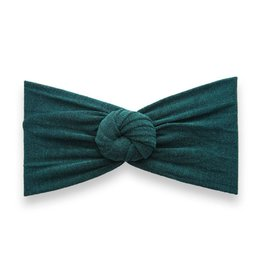 Baby Bling Bows Heathered Bun Forest Green