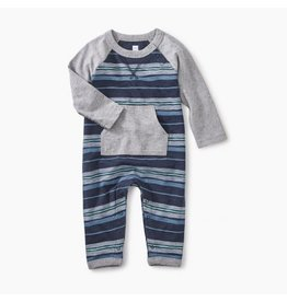 Tea Collection Painted Stripe Pocket Romper