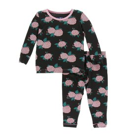 Kickee Pants Print Long Sleeve Pajama Set English Rose Garden